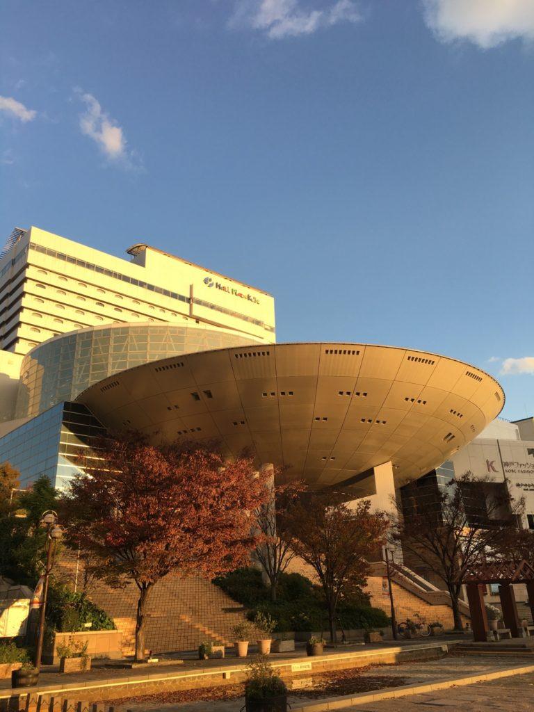 神戸 フォトジェニック 写真撮影 スポット おしゃれ インスタ映え 六アイ 六甲アイランド UFO オルビスホール 神戸ファッション美術館