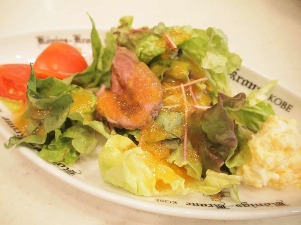ホテル ケーニヒスクローネ くまポチ邸 ランチ サラダ