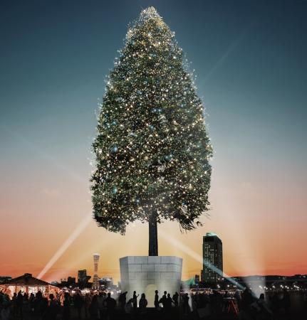 神戸 クリスマス 2017年 世界一のクリスマスツリー イルミネーション