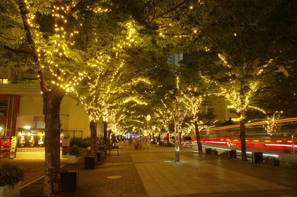 神戸 ハーバーランド イルミネーション 神戸ガス燈通り ハーバーロード 2018