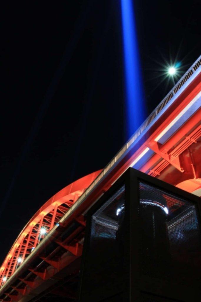 神戸大橋 ライトアップ 上空照射 レーザー 2018年 クルーズ船 入港 いつ