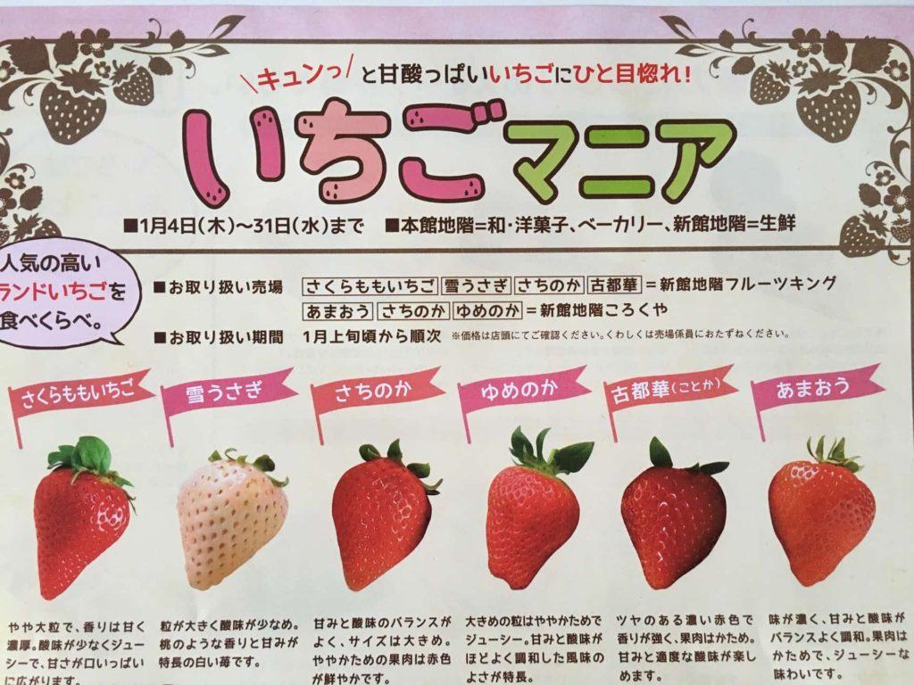 そごう神戸店 イベント 催事 いちごマニア いちご スイーツ 期間限定