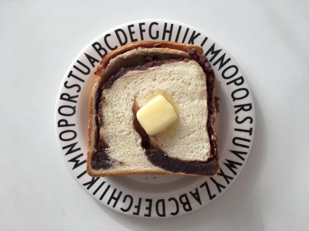 あん食 トミーズ 神戸 あんこ 食パン 食べ方
