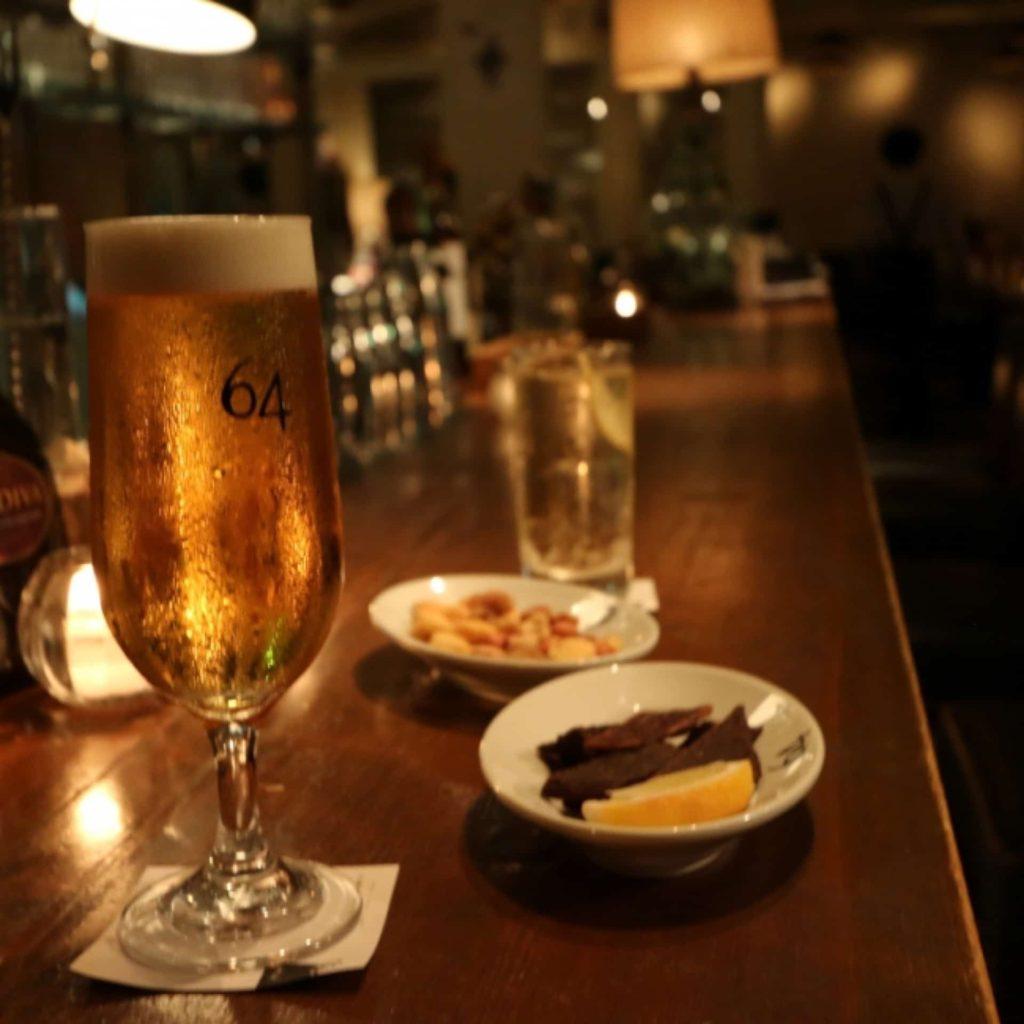 Bar&Bistro 64 バーアンドビストロ ロクヨン 9周年 生ビール ハイボール 99円
