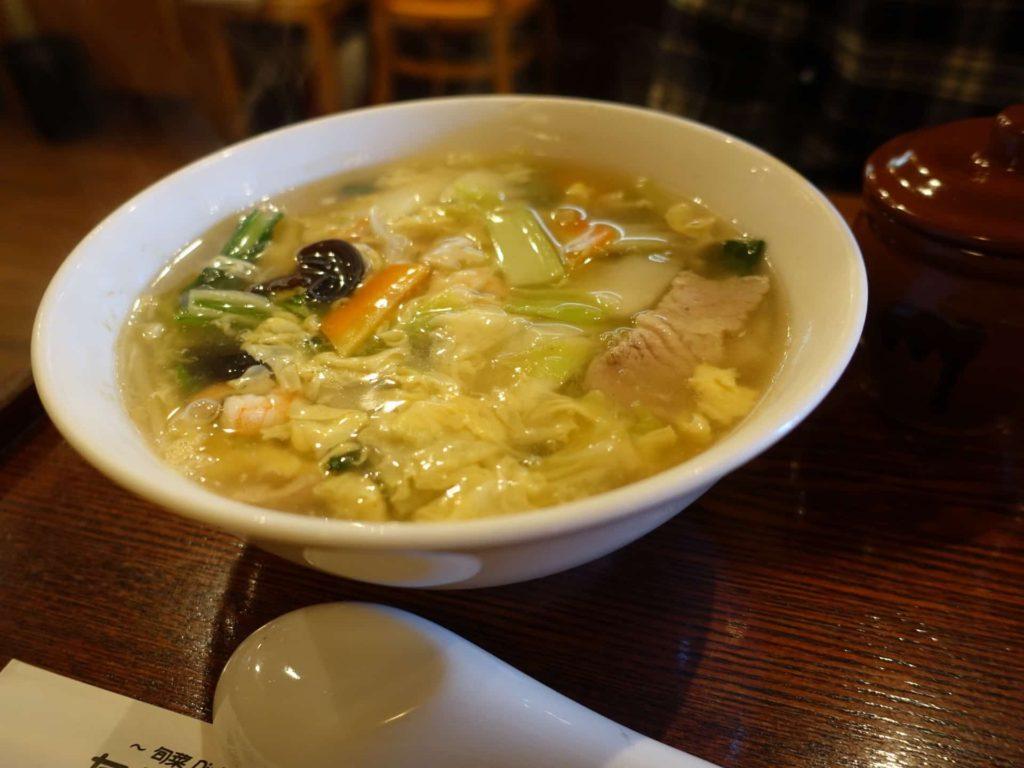 旬菜Dining たんぽぽ亭 六甲アイランド 中華料理 ランチ 五目野菜のとろみ汁そば