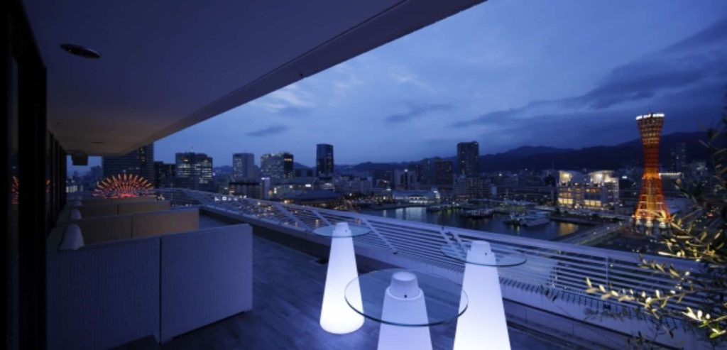 神戸メリケンパークオリエンタルホテル 夜景 テラス席 バー 期間限定 デート