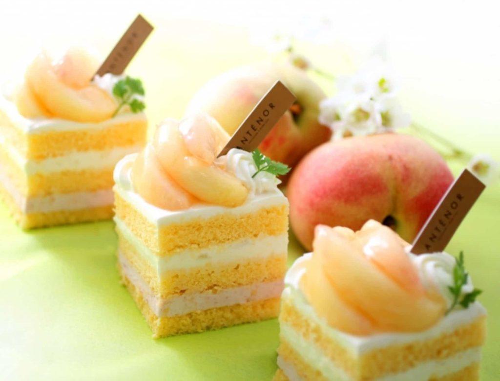 アンテノール スイーツ 期間限定 桃 ピーチ ケーキ 店舗 桃フェスタ 発売期間 2018