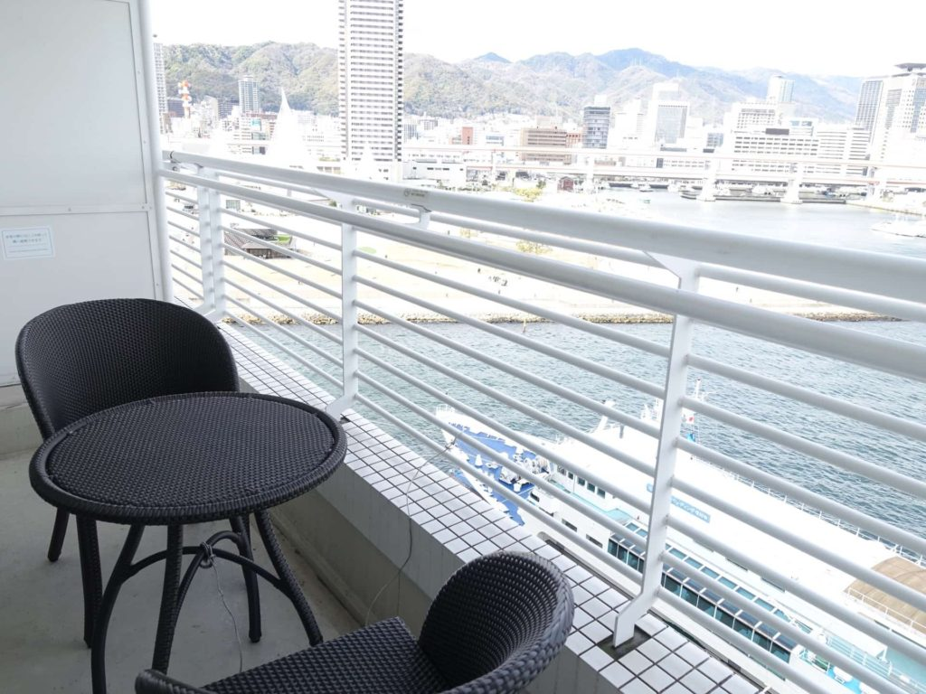神戸 メリケンパーク オリエンタルホテル ダブル スーペリアダブル 宿泊記 口コミ レビュー ブログ バルコニー