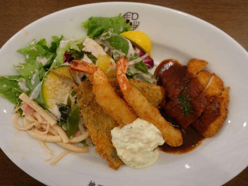神戸デュシャン ランチ メニュー 値段 定食 平日限定 ミックスフライ