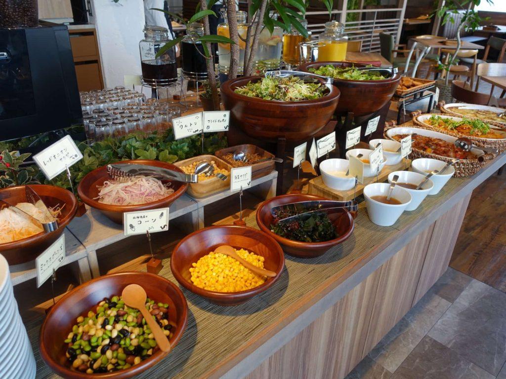 神戸 リスカフェ KOBE RIS CAFE ランチ サラダバー サラダ食べ放題