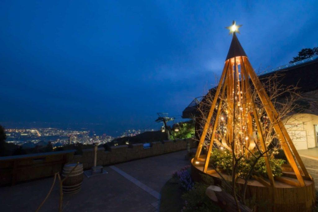布引ハーブ園 神戸 ハーブ園 2018 イベント クリスマス 古城のクリスマス イルミネーション デート 夜景