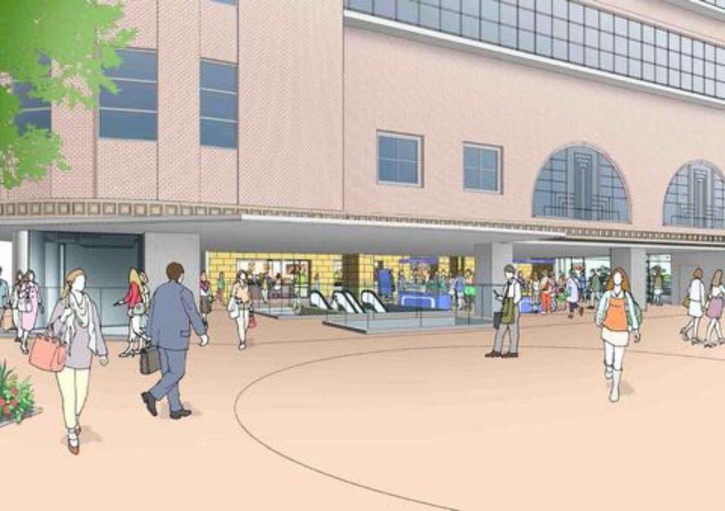 パイ山 さんきた アモーレ広場 2019 リニューアル 工事 デザイン 阪急 神戸 三宮 JR 三ノ宮