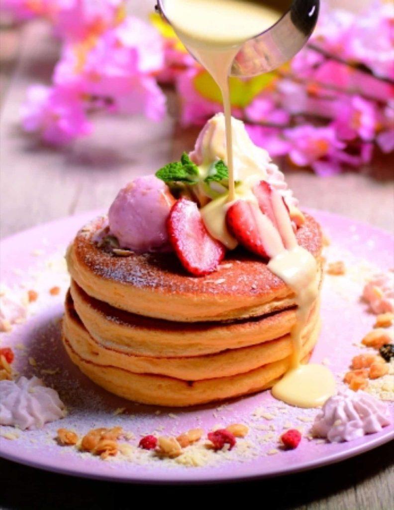 ベルヴィル ベル・ヴィル 神戸 岡本 パンケーキ 期間限定 2019 3月 さくらパンケーキ