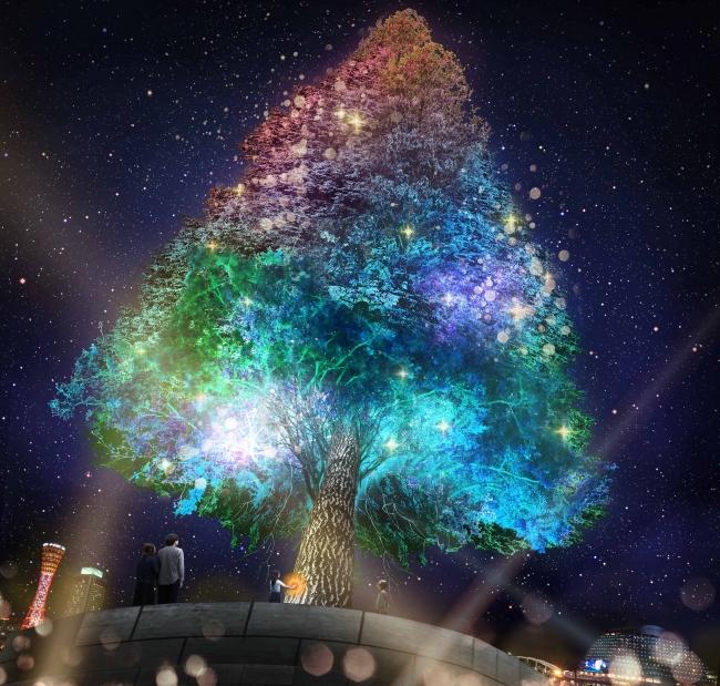 神戸・メリケンパークに登場の「世界一のクリスマスツリー」。岡田准一のラインライブや「情熱大陸」生中継も(12/18更新)