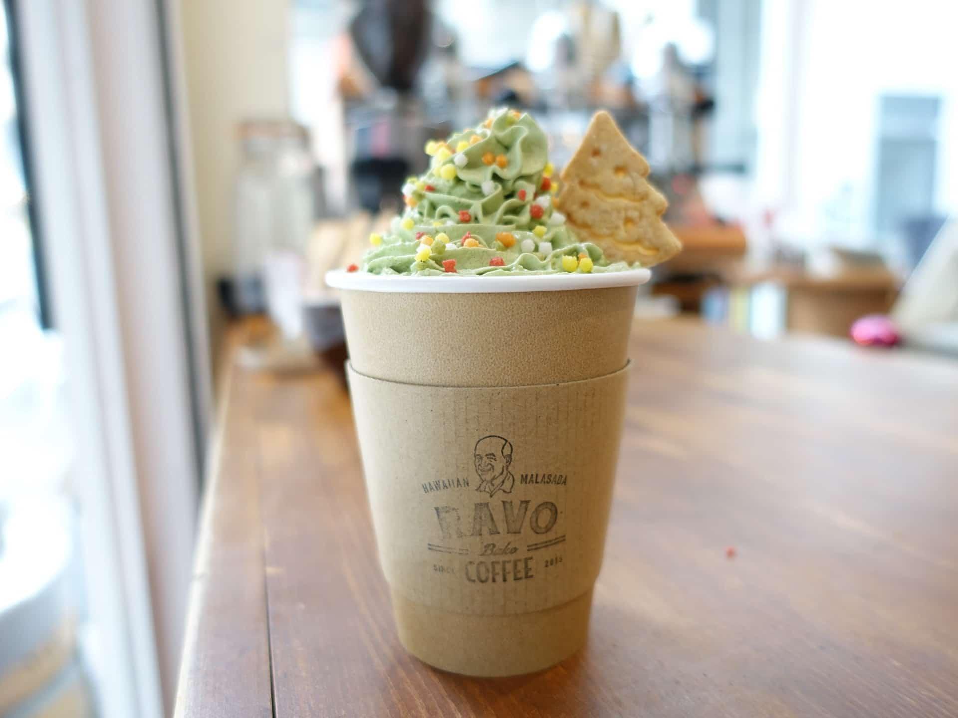 RAVO Bake COFFEE(ラボベイクコーヒー) − インスタで注目の神戸・三宮のコーヒースタンド。期間限定ラテやマラサダも
