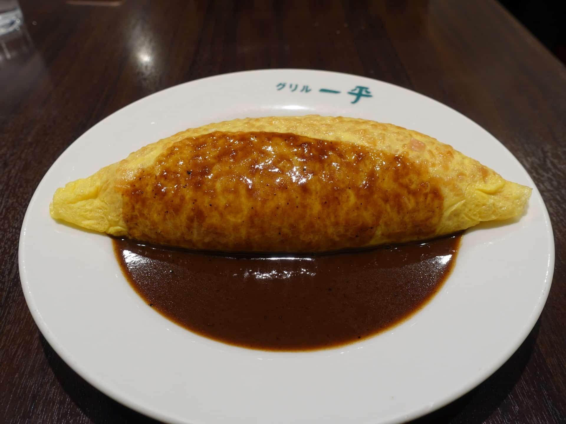 グリル一平 三宮店 − 神戸の老舗洋食屋でランチ。オムライスやビフカツはかなりおすすめ