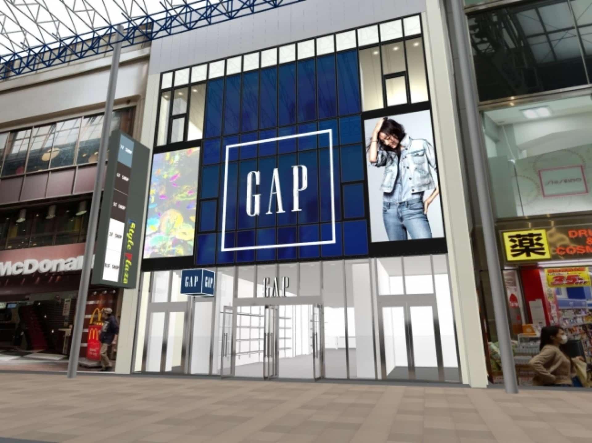 三宮のGAPが関西最大級になってリニューアルオープン!同じビルにはフランフランも