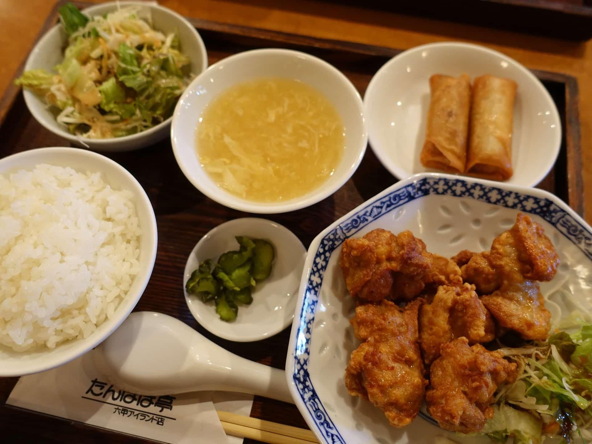 旬菜Diningたんぽぽ亭 − 六甲アイランドで中華料理ランチ。1000円以下でボリュームたっぷりの定食!