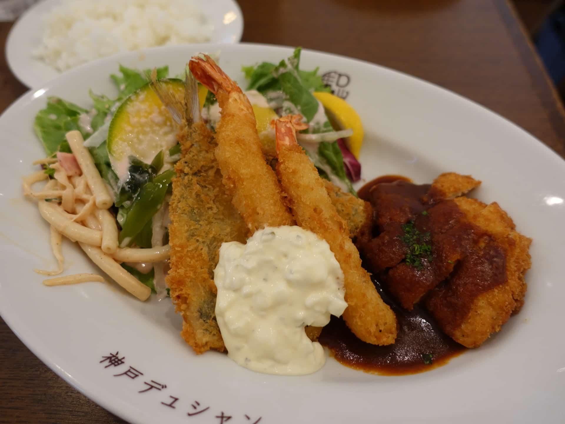 神戸デュシャン − ハンバーグやオムライスなどの定番の洋食ランチ。平日限定サービスランチがお得!