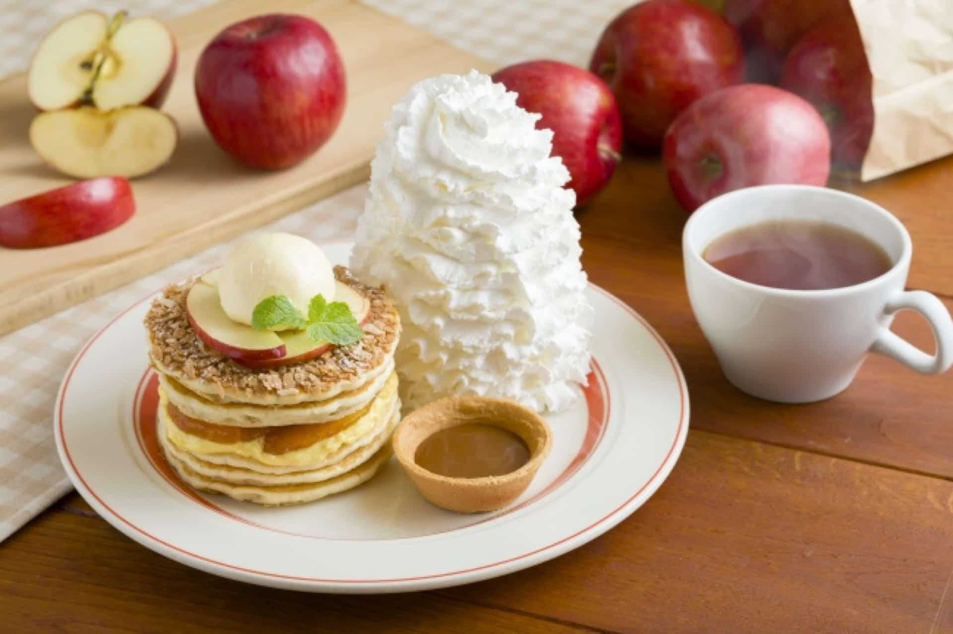 3週間限定!エッグスンシングスで「アップルパイ・パンケーキ」が登場。神戸ハーバーランド店で味わおう