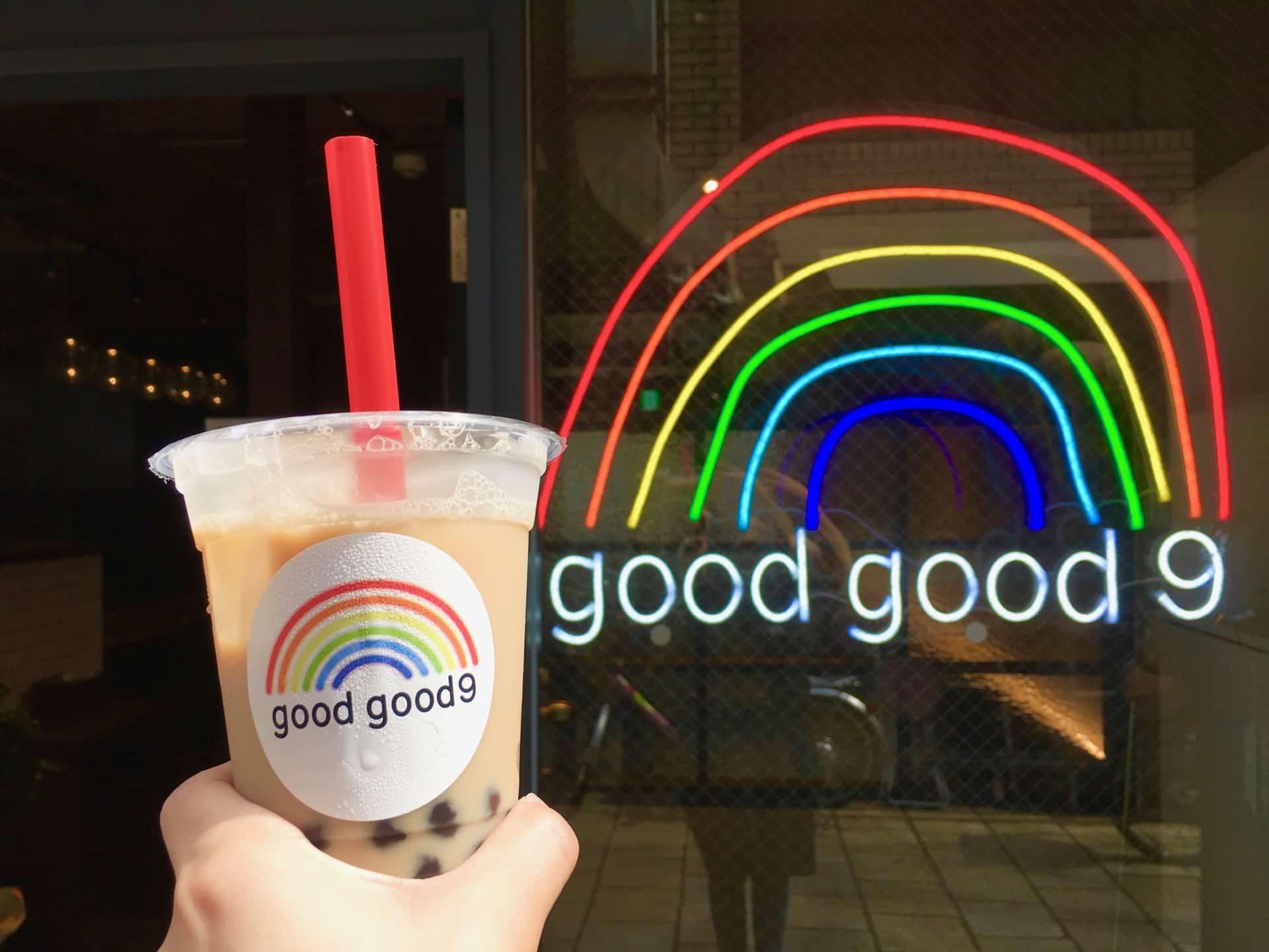 goodgood9 − 神戸・南京町のタピオカドリンク店。300円で本格派の味わいが楽しめる