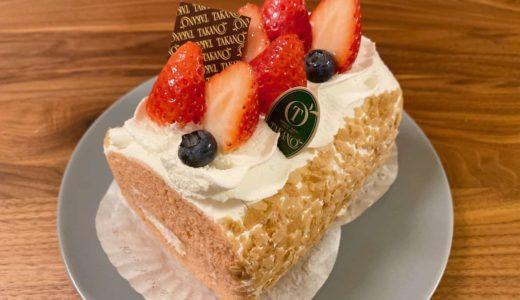 新宿高野「苺のロールケーキ」 − 神戸阪急限定ケーキ!季節によってフルーツが変化